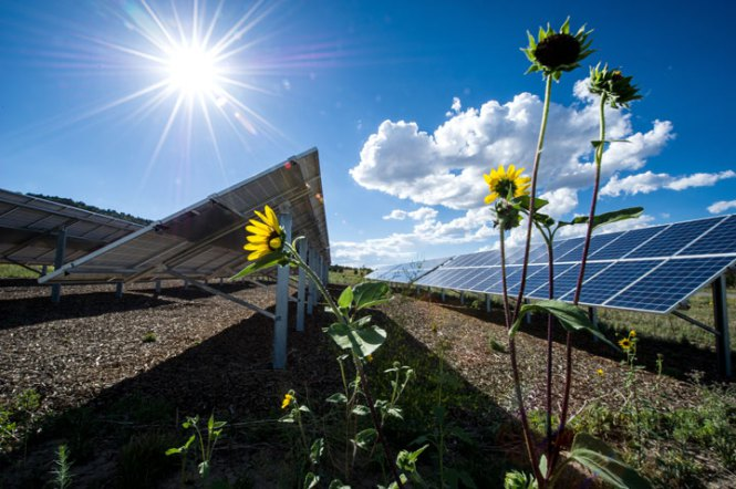 Solar Panels in Colorado, US. Credits: Dennis Schroeder/NREL/Light Beyond the Bulb
